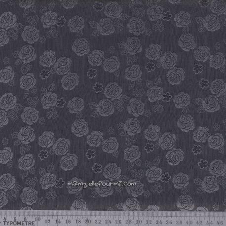 Doublure roses gris