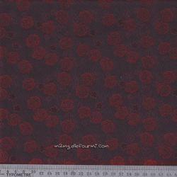 Doublure roses bordeaux