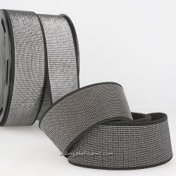 Élastique 40 mm métal noir/argent