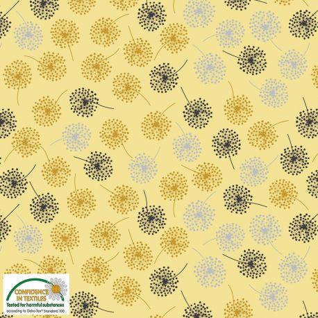 Jersey mini dandelions jaune
