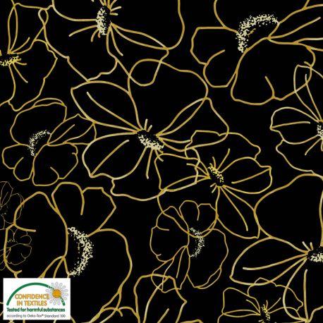 Jersey big flowers jaune