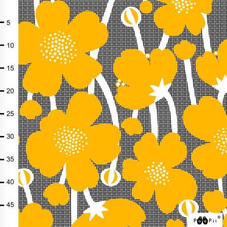 Jersey bio buttercup noir/jaune soleil