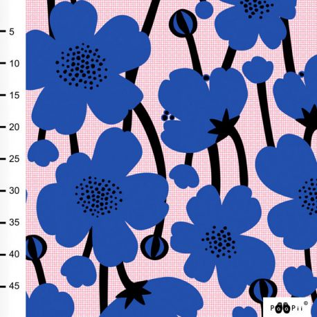 Jersey bio buttercup bleu/rose