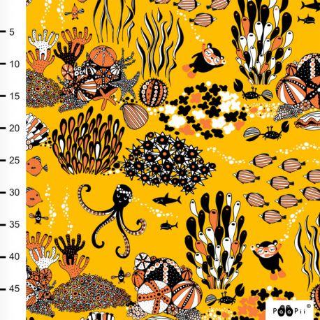 Jersey bio Myyry the diver jaune soleil/orange
