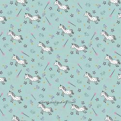 Jersey licornes glitter menthe