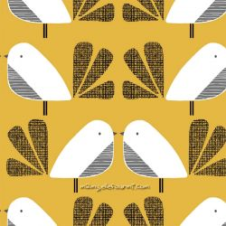 Coton nesting birds big jaune