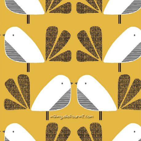 Coton nesting birds big jaune