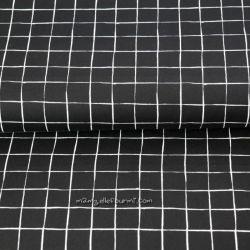 Popeline square noir