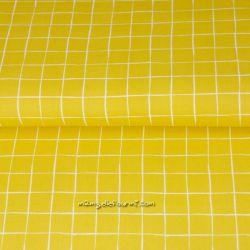 Popeline square jaune