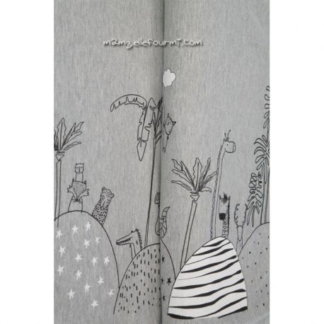 Jersey bordure safari gris