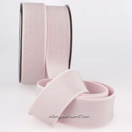 Élastique 40 mm métal rose/argent
