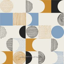 Toile gold geometric space