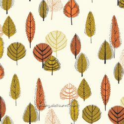 Toile gold leaves