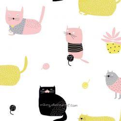 Popeline knitting meow