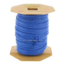 Cordon plat jersey bio bleu