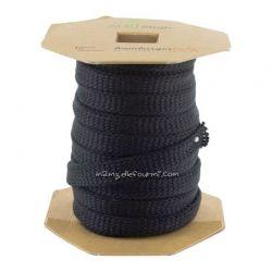 Cordon plat jersey bio noir