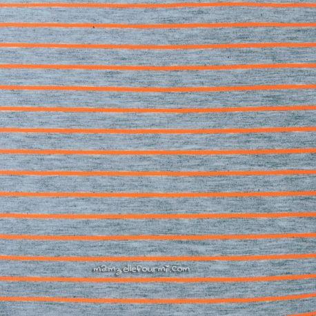 Jersey rayures fluo orange