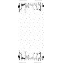 Jersey bordure girafe blanc