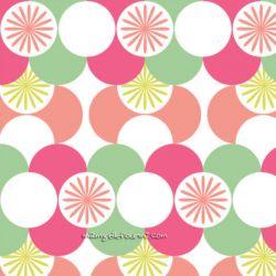 Coton géo rose/vert