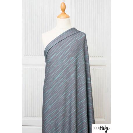 Jersey modal streifen gris/pétrole