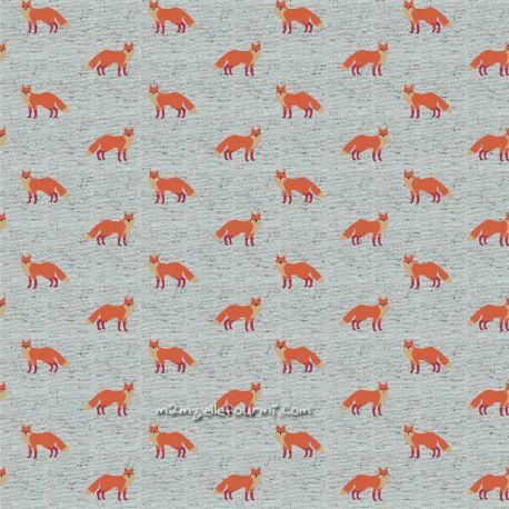 Jersey fancy fox vert chiné