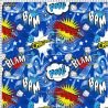 Microfibre polyester comic bubble bleu
