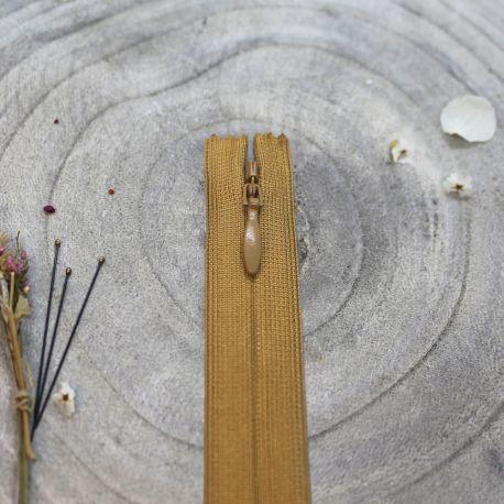 Zip invisible Atelier Brunette 20 cm mustard
