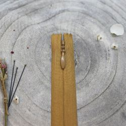 Zip invisible Atelier Brunette 40 cm mustard
