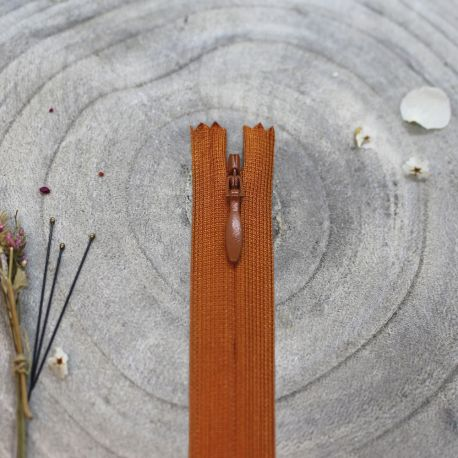 Zip invisible Atelier Brunette 40 cm chestnut
