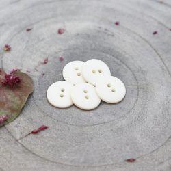 Bouton Atelier Brunette classic mat 10 mm off white