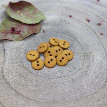 Bouton Atelier Brunette classic mat 10 mm ochre