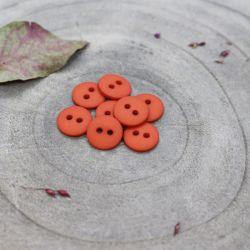 Bouton Atelier Brunette classic mat 10 mm tangerine