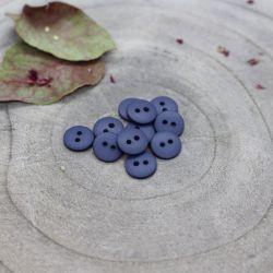 Bouton Atelier Brunette classic mat 10 mm cobalt