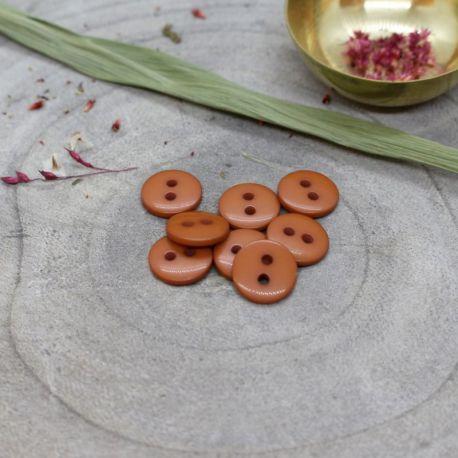 Bouton Atelier Brunette classic shine 12 mm chestnut