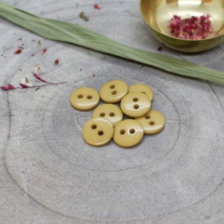 Bouton Atelier Brunette classic shine 12 mm mustard