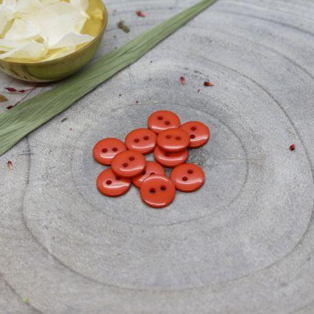 Bouton Atelier Brunette classic shine 12 mm tangerine