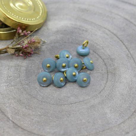 Bouton Atelier Brunette jewel 9 mm storm
