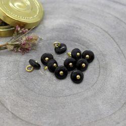 Bouton Atelier Brunette jewel 9 mm black