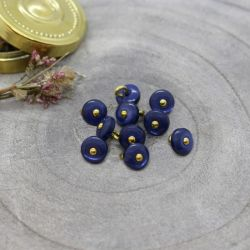 Bouton Atelier Brunette jewel 9 mm cobalt