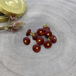 Bouton Atelier Brunette jewel 9 mm amarante