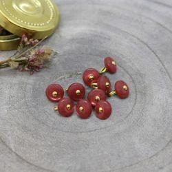 Bouton Atelier Brunette jewel 9 mm terracotta