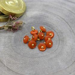 Bouton Atelier Brunette jewel 9 mm tangerine