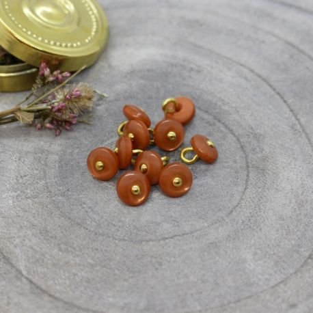 Bouton Atelier Brunette jewel 9 mm chestnut
