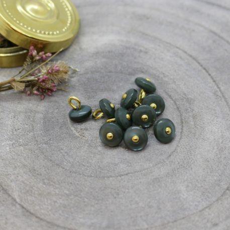 Bouton Atelier Brunette jewel 9 mm cedar