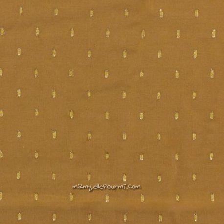 Viscose camel plumetis doré