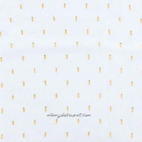 Viscose blanche plumetis doré