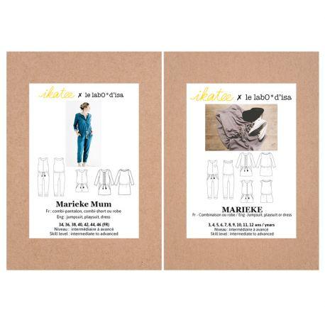 "Patron Marieke + Marieke MUM- Duo ""Mère-fille"""