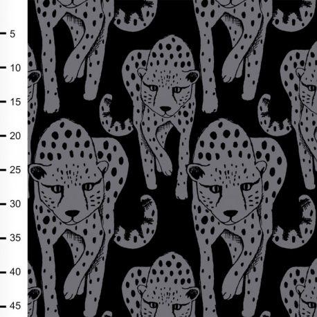 Sweat bio cheetah gris foncé