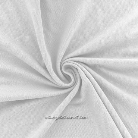 Maille polo bio blanche