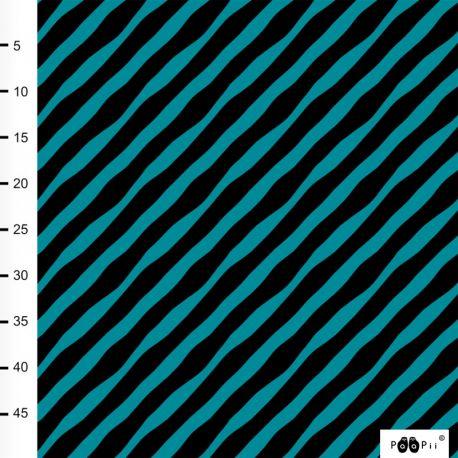Jersey bio diagonal noir/pétrole